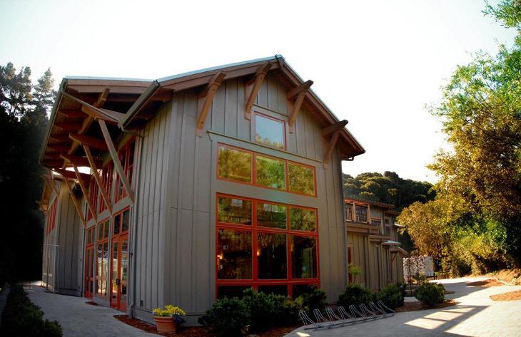 Modern pole barn house