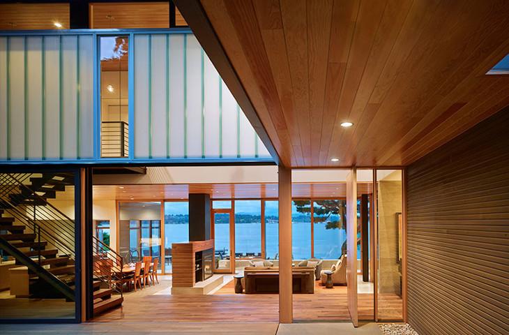 Modular home modern interior