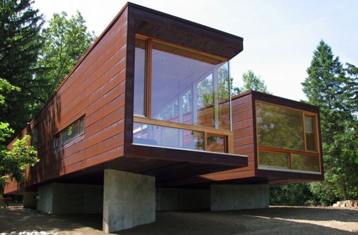 Off-the-grid container home