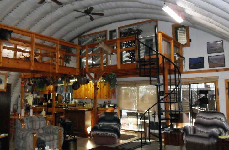 Prefab steel home interior