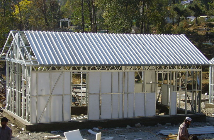 Prefabricated steel home kit