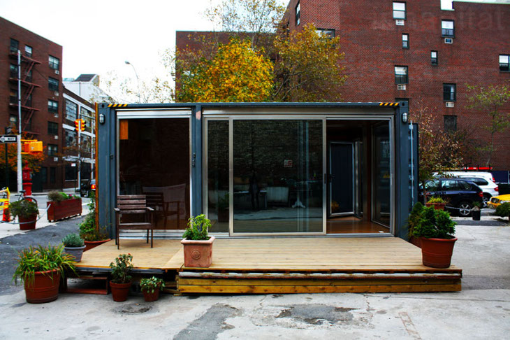 Shipping container home model