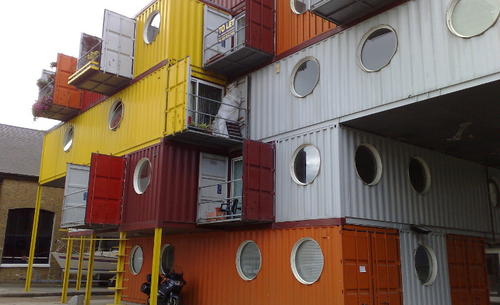 Shipping container homes complex
