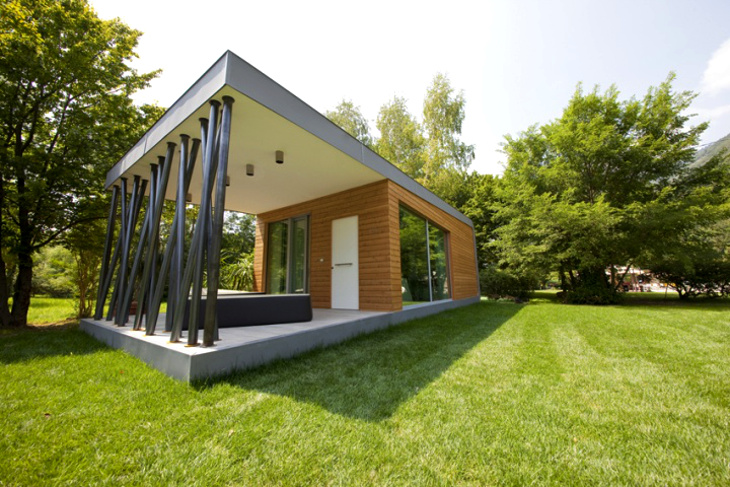 Simple green modular home design