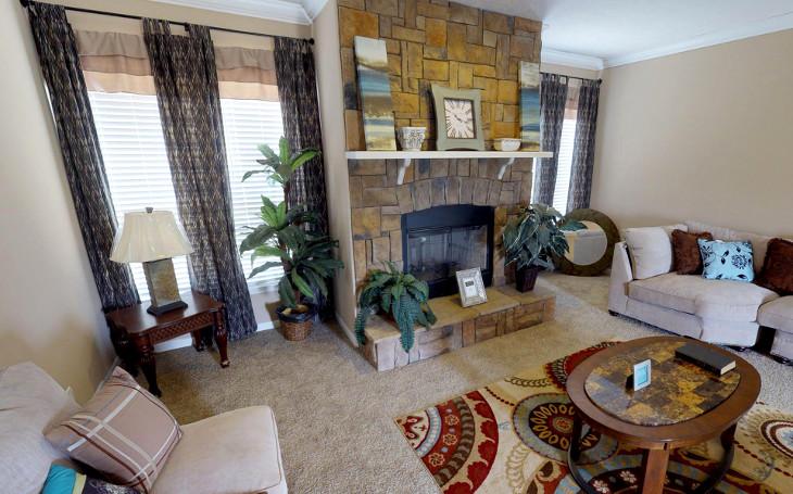 Simple living room floor plan