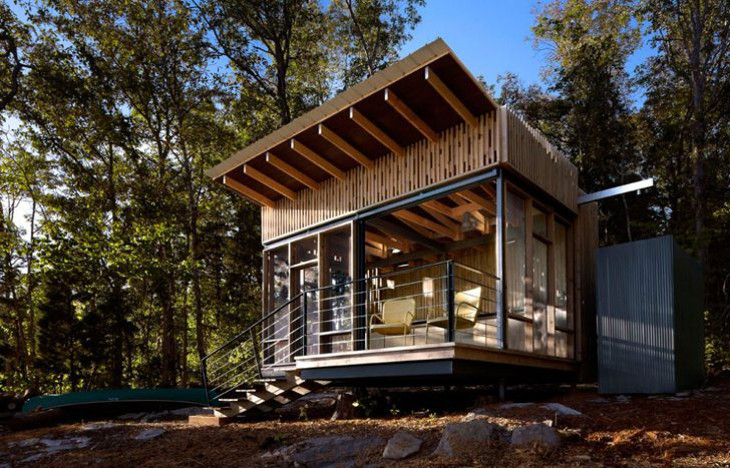 Small off-grid prefabricated home