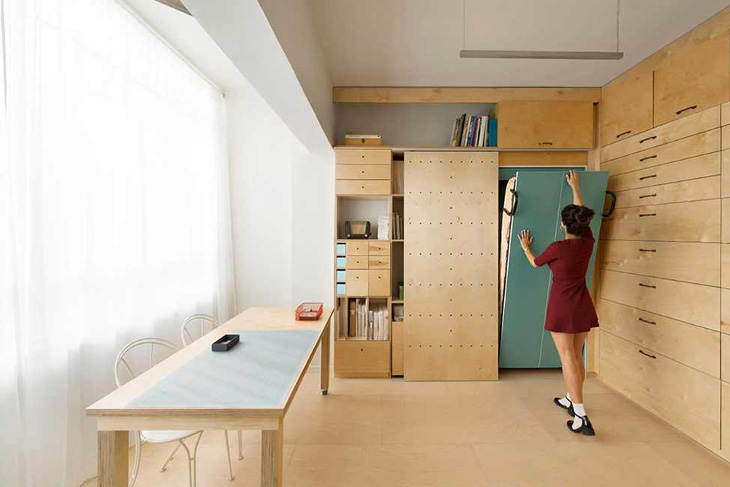 Space saving modular home interior
