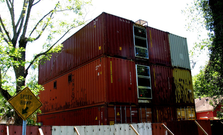 Three-storey container home