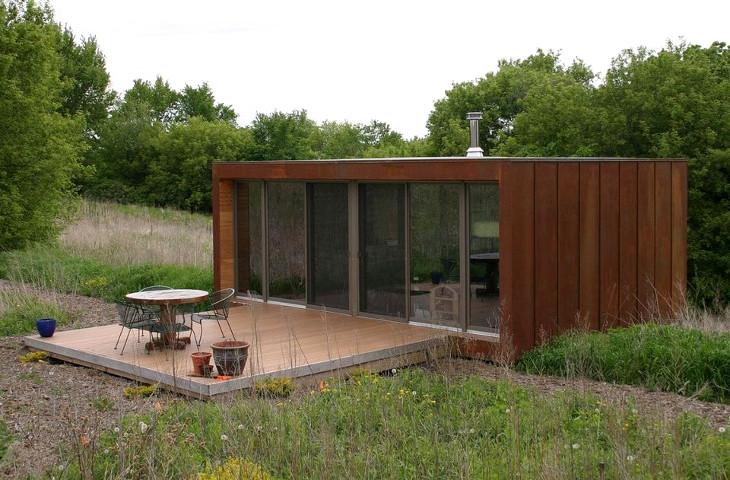 Tiny off grid prefab home