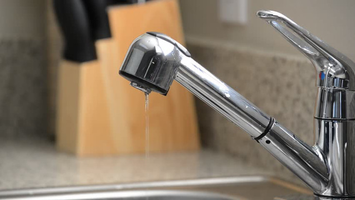 Turning off faucet
