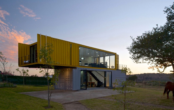 Two-storey shipping container house