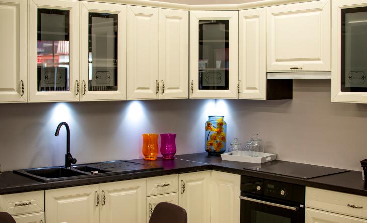 All-white kitchen cabinets