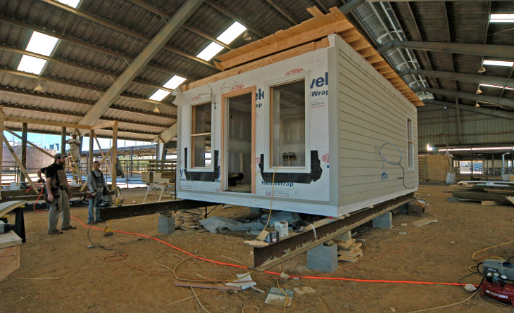 Constructing a small modular home
