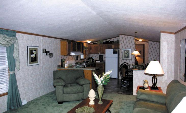 Inside a single wide home
