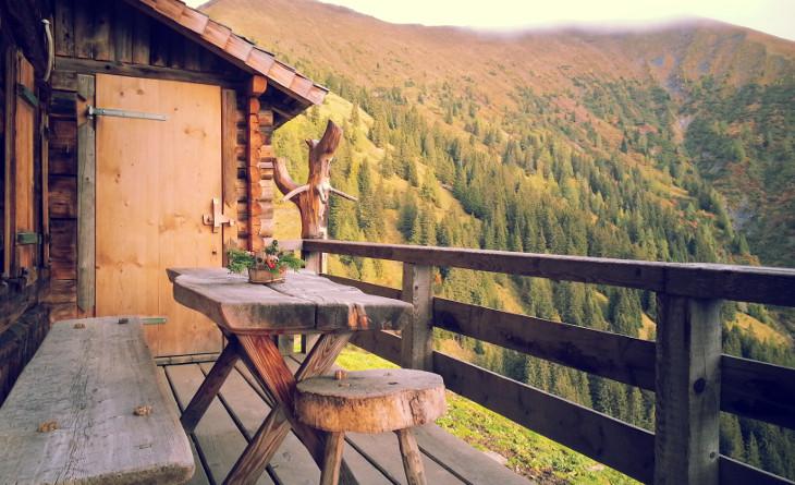 Log cabin deck