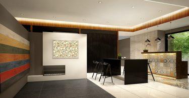 Minimalist triple wide interior