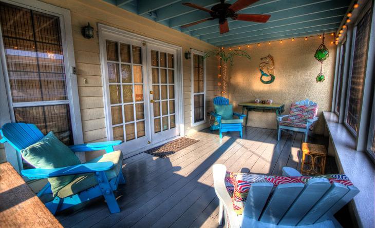 Modular home veranda