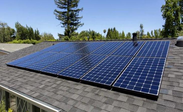 Modular homes using solar panels