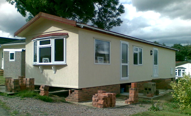 Newly painted mobile home