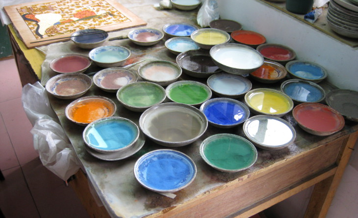 Oil based enamel paint mixing
