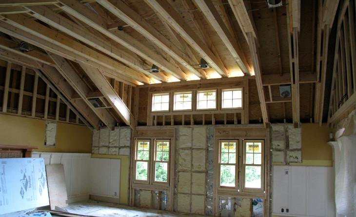 Raising house ceiling