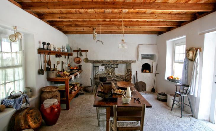 Simple mobile home interior