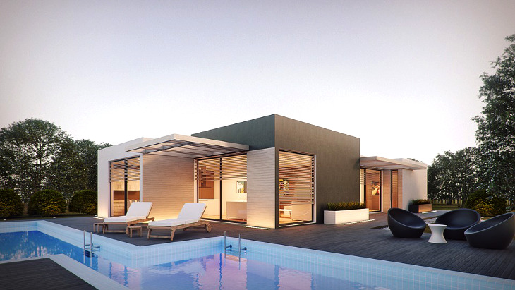Simple modern modular home