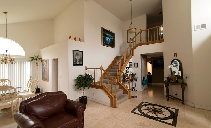 Triple wide home stairs