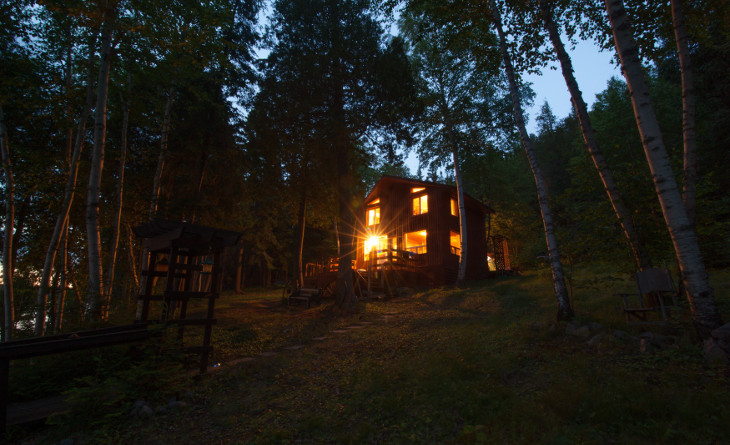 Two-storey log home