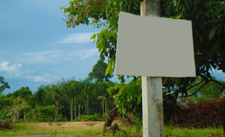 Unmarked land for sale