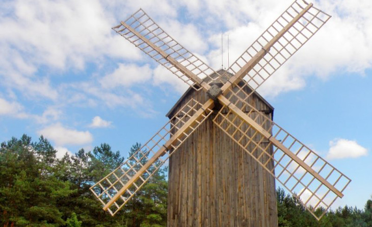 Wind-powered mill house