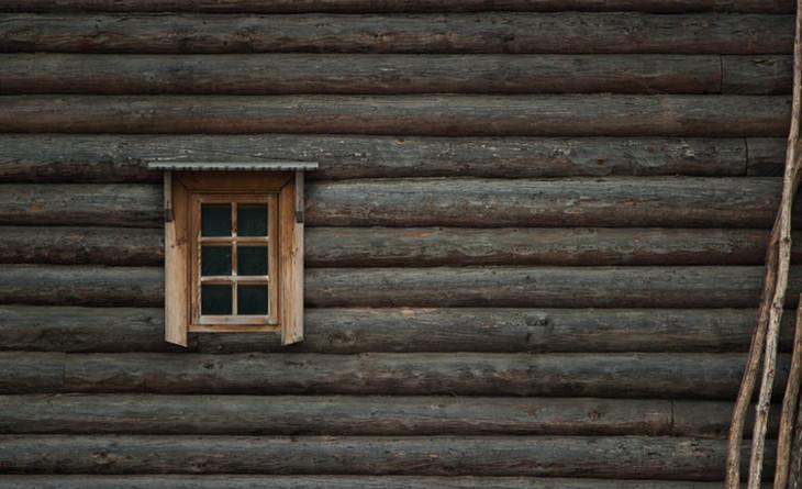 Window of a log cabin